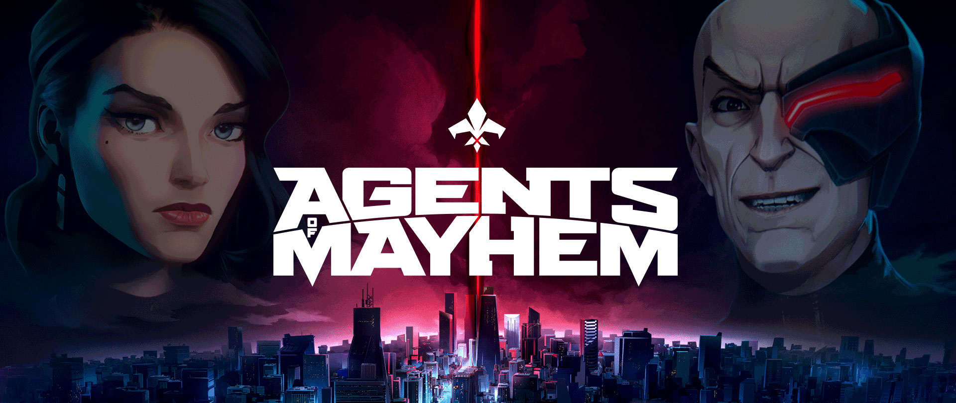 Agents of Mayhem Bannière