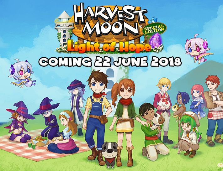 Harvest Moon Light of Hope - Release Date