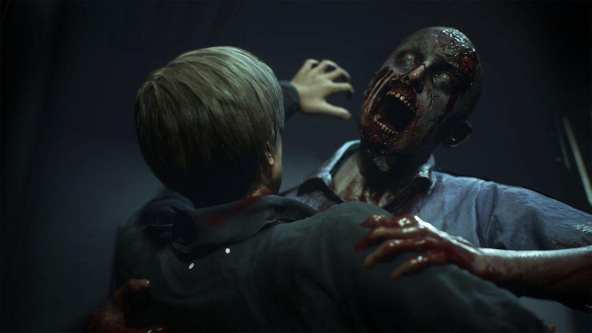 RE 2 Remake Leon kiss zombie
